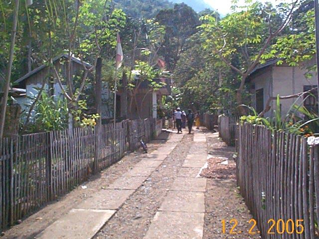 整然とした地方の村